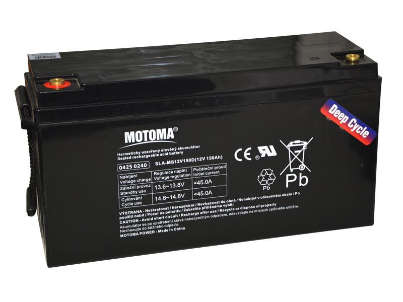 Baterie olověná 12V 150Ah MOTOMA pro soláry