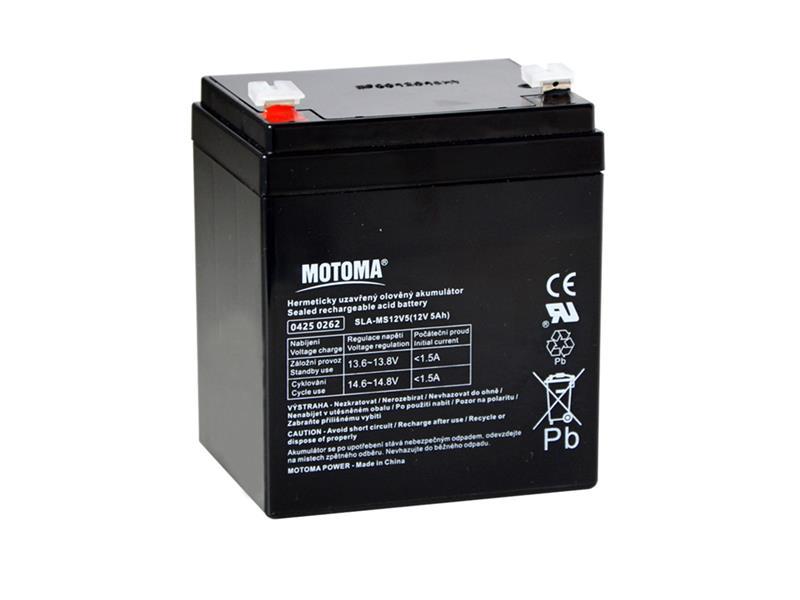 Baterie olověná 12V   5Ah MOTOMA