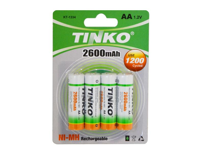 Baterie AA (R6) nabíjecí 1,2V/2600mAh TINKO NiMH