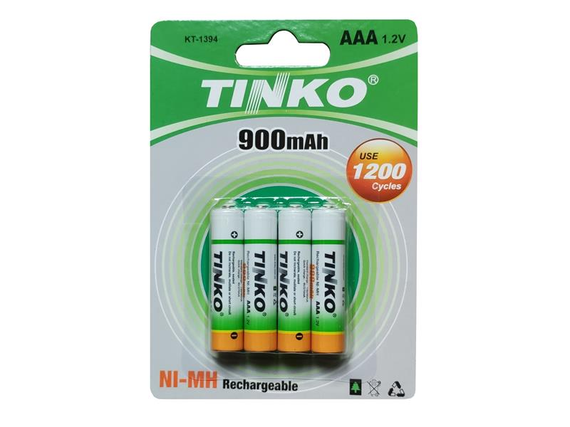 Baterie AAA (R03) nabíjecí TINKO NiMH  900mAh