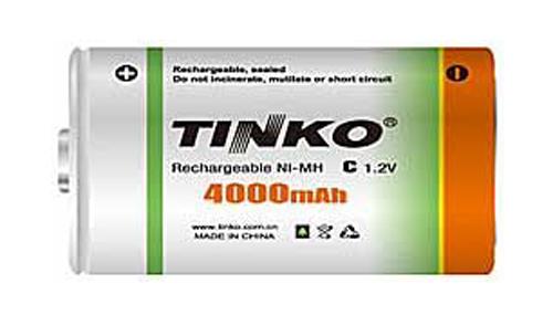 Baterie C (R14) nabíjecí TINKO NiMH 4000mAh