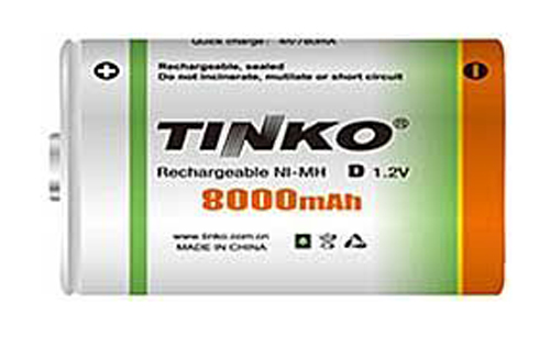 Baterie D (R20) nabíjecí 1,2V/8000mAh TINKO NiMH