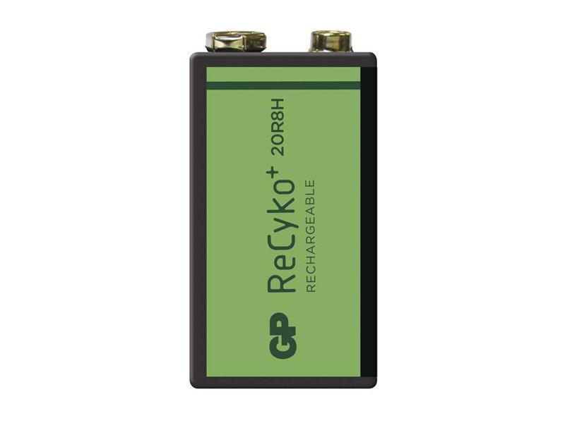 Baterie 6F22 (9V) nabíjecí GP Recyko+ 200mAh balení 1 ks