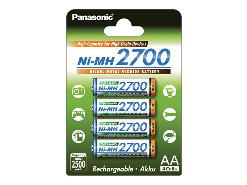 HR6 AA 3HGAE/4BE HICAP 2700 PANASONIC, nabíjecí, 4 kusy