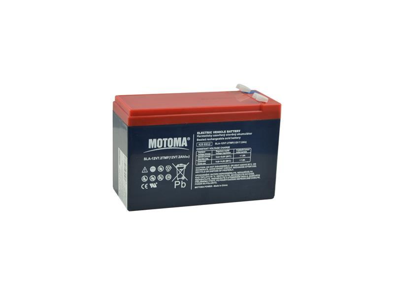 Baterie olověná 12V   7.2Ah MOTOMA (konektor 6,35 mm)