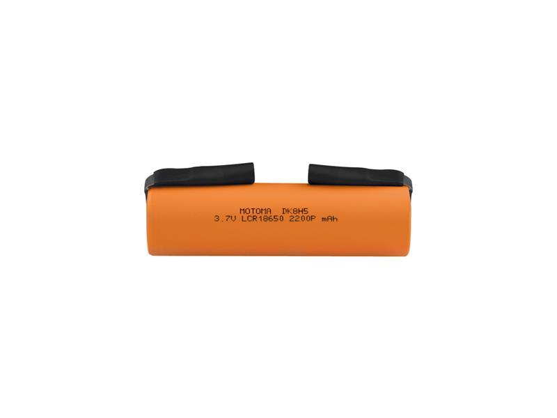 Baterie nabíjecí Li-Ion 18650 3,7V 2200mAh 22A MOTOMA s páskovými vývody
