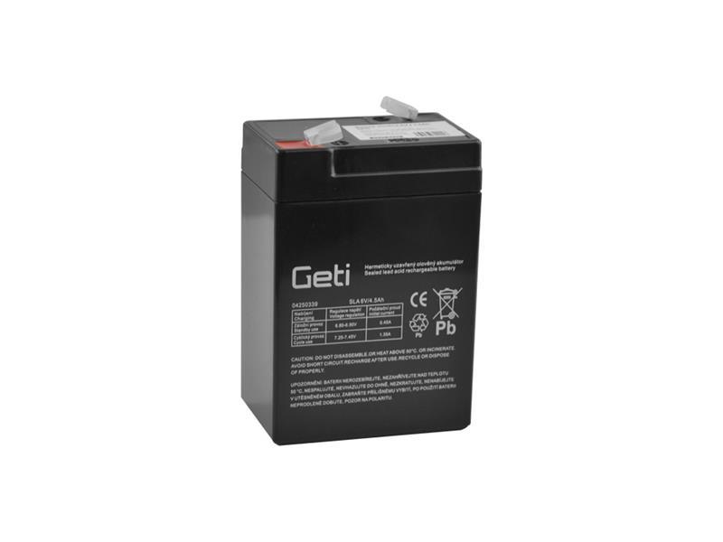 Baterie olověná 6V 4.5Ah Geti bezúdržbový akumulátor