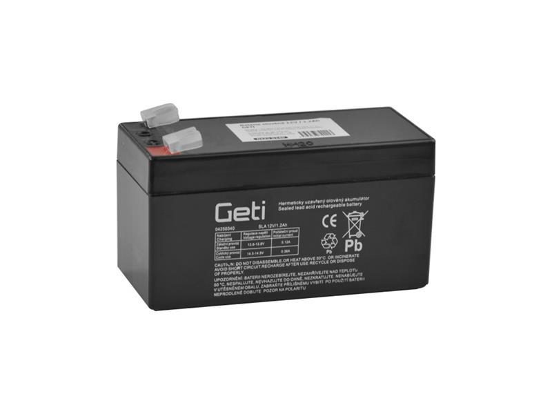 Baterie olověná  12V/ 1.2Ah  Geti bezúdržbový akumulátor