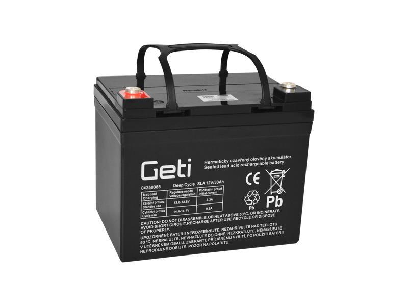 Baterie olověná 12V  33Ah Geti pro elektromotory