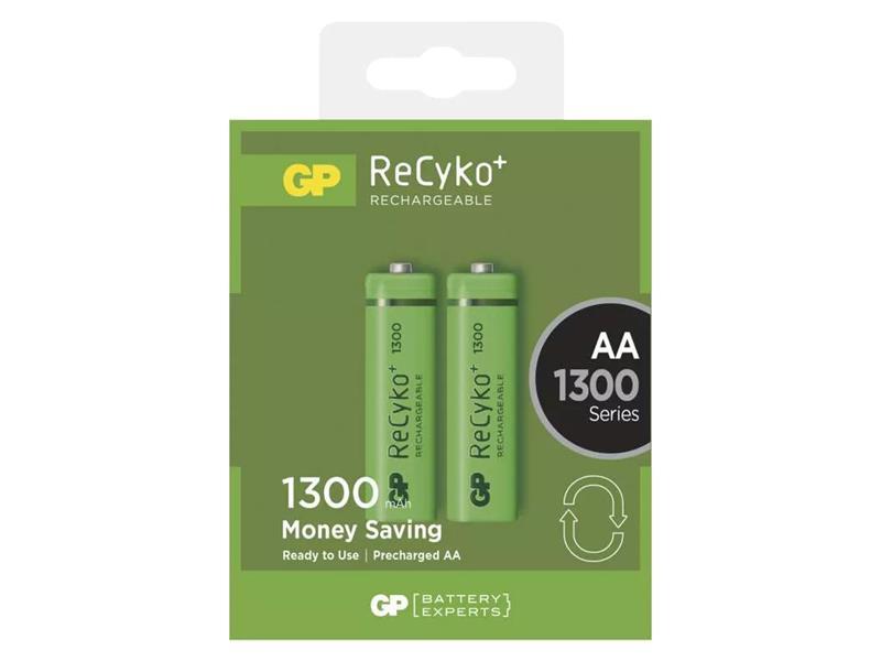 Baterie AA (R6) nabíjecí 1,2V/1300mAh GP Recyko+ 2ks