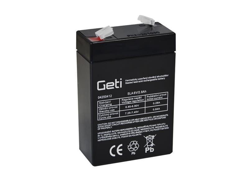 Baterie olověná  6V  2.8Ah Geti