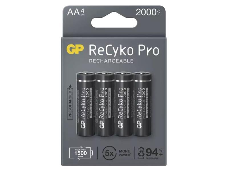 Baterie AA (R6) nabíjecí 1,2V/2000mAh GP Recyko Pro  4ks