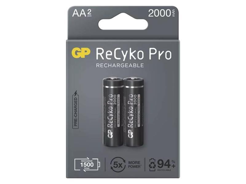 Baterie AA (R6) nabíjecí 1,2V/2000mAh GP Recyko Pro  2ks