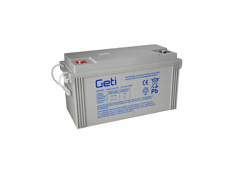Baterie gelová 12V 120Ah Geti pro soláry