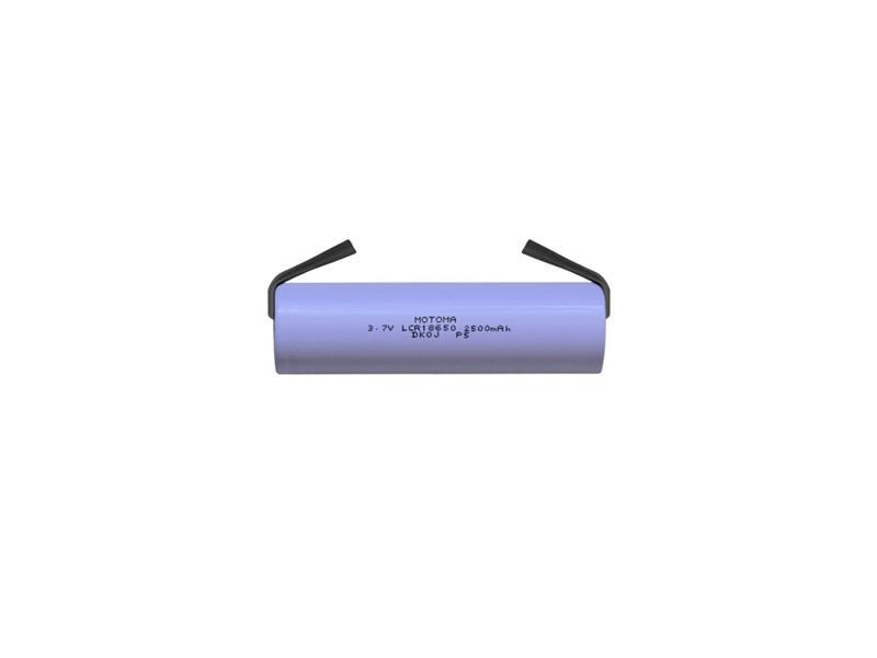 Baterie nabíjecí Li-Ion 18650 3,7V/2500mAh 5C MOTOMA s páskovými vývody