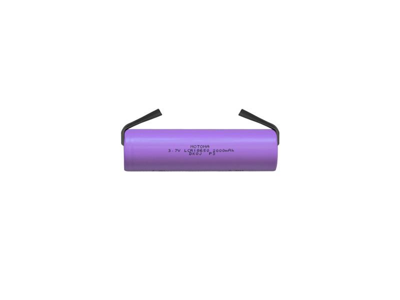 Baterie nabíjecí Li-Ion 18650 3,7V/2000mAh 3C MOTOMA s páskovými vývody