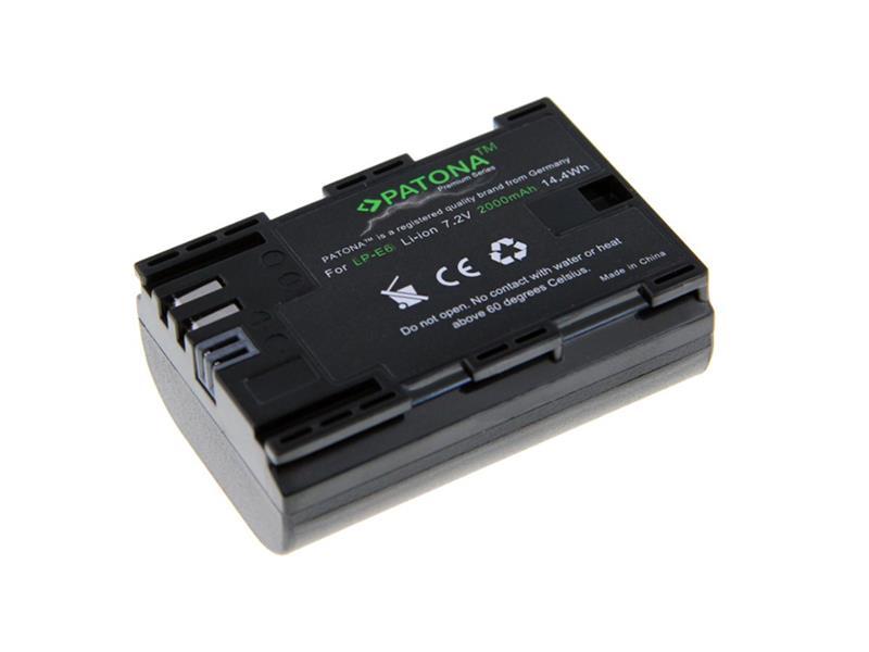 Baterie foto CANON LP-E6 2000mAh premium PATONA PT1212