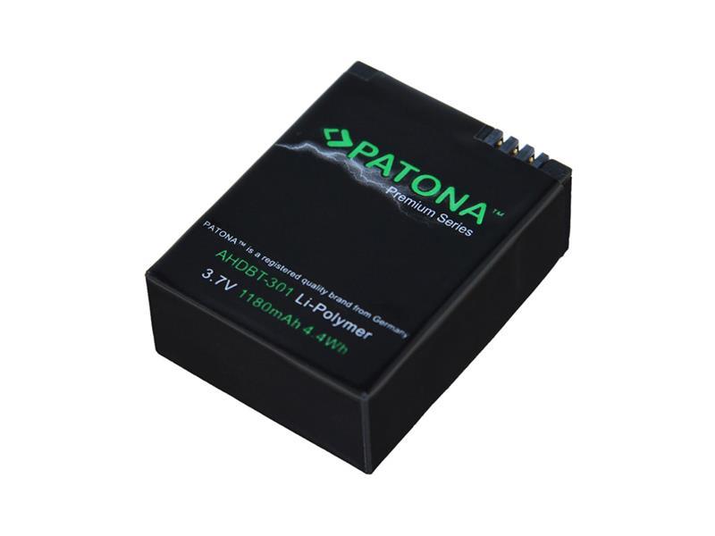 Baterie foto GOPRO AHDBT-201 1180mAh premium PATONA PT1202