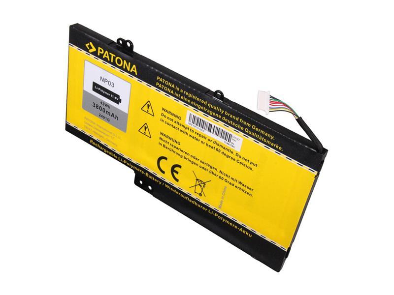 Baterie HP Pavilion 13/15 3800mAh Li-Pol 11.4V NP03XL PATONA PT2491