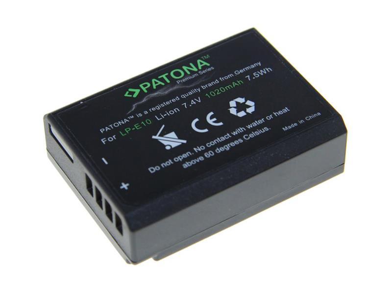 Baterie foto CANON LP-E10 1020mAh premium PATONA PT1213