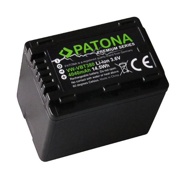 Baterie foto PANASONIC VW-VBT380 4040mAh premium PATONA PT1257