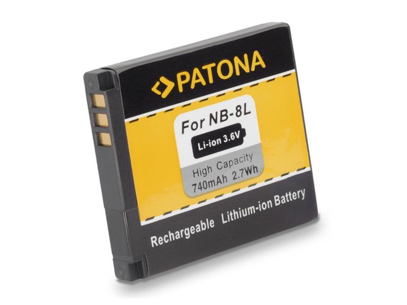 Baterie foto CANON NB-8L 740mAh PATONA PT1113