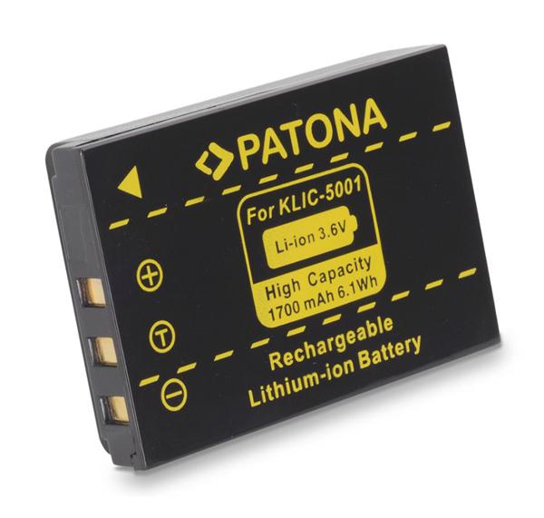 Baterie foto KODAK KLIC 5001 1700mAh PATONA PT1061