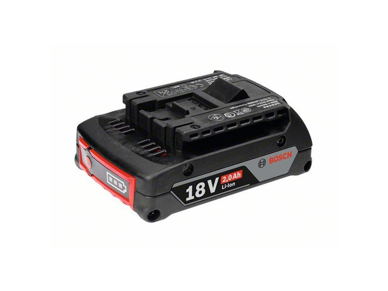 Baterie aku BOSCH 2000mAh 18V ORIGINÁL! zásuvný akumulátor GBA, AH M-B; SD; 3165140801348
