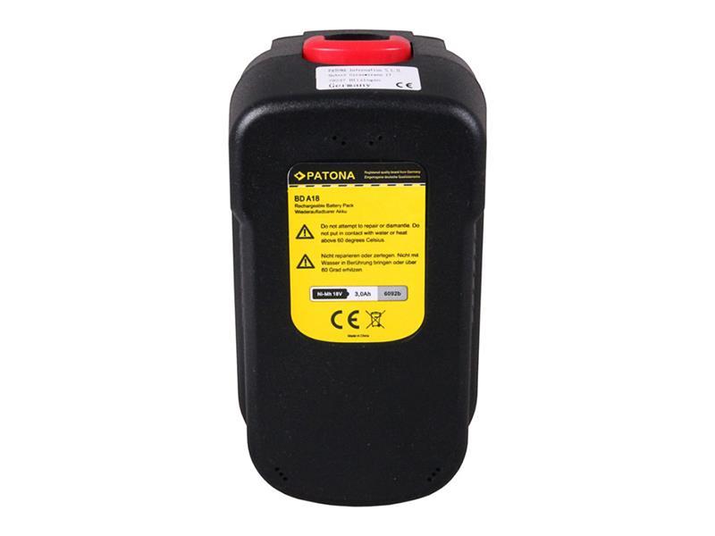 Baterie BLACK & DECKER 3000 mAh 18V PATONA PT6092