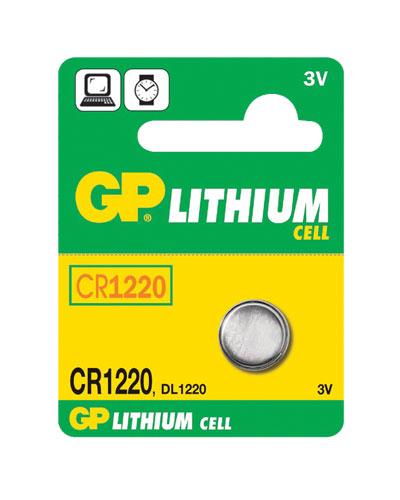Baterie CR1220 GP lithiová balení 1ks