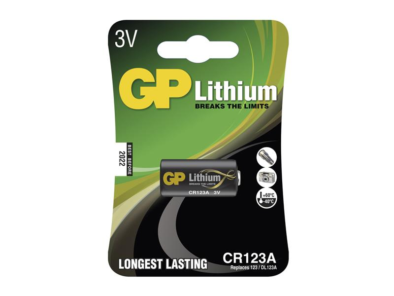 Foto lithiová baterie GP CR123A