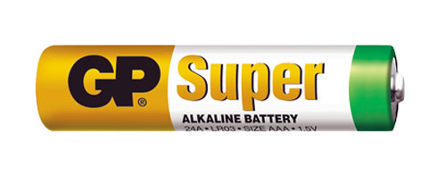 Baterie AAA (R03) alkalická GP Super Alkaline