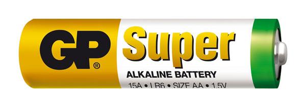 Baterie AA (R6) alkalická GP Super Alkaline balení 2ks fólie