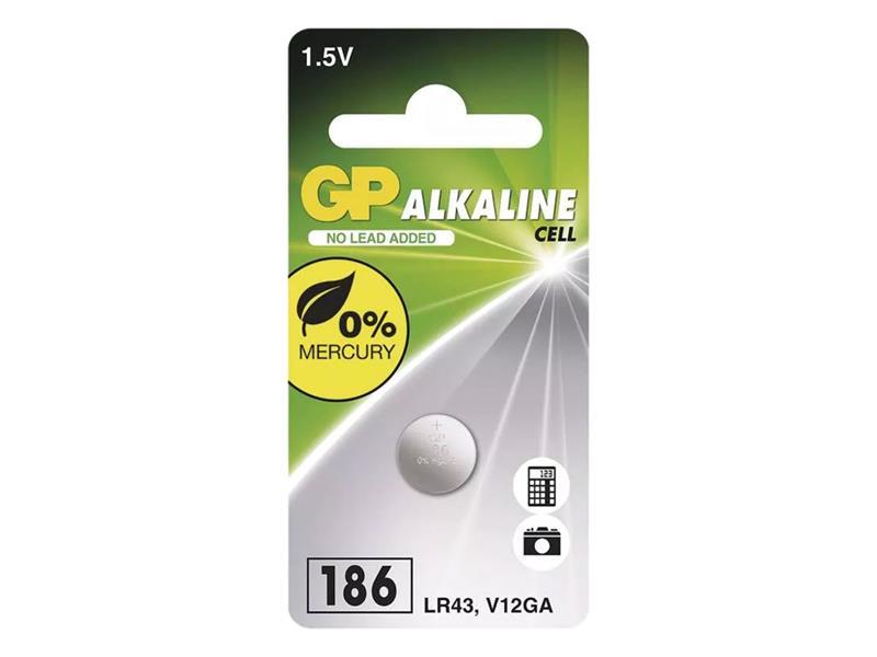 Baterie     LR43 (186) GP alkalická