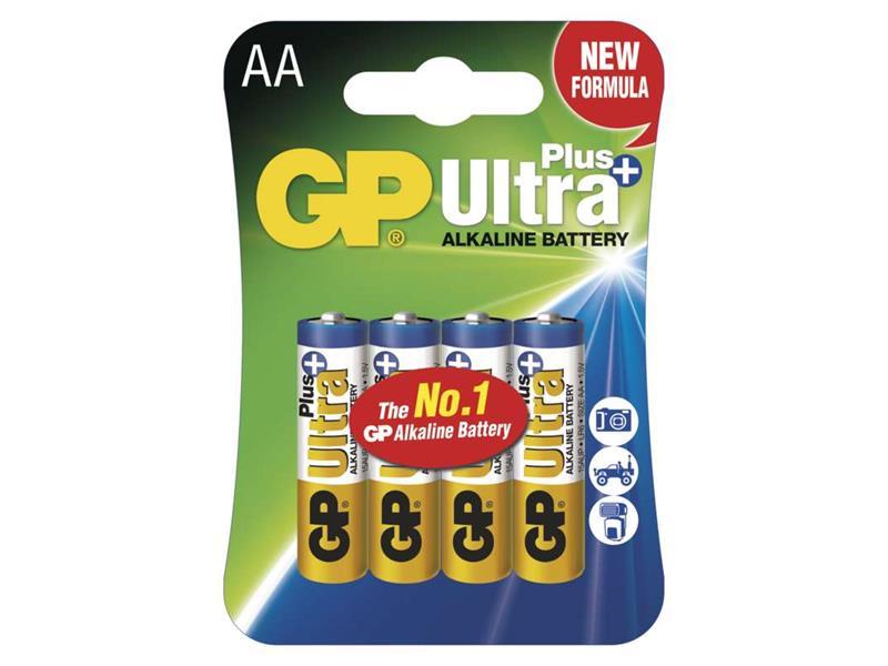 Baterie AA (R6) alkalická GP Ultra Plus Alkaline balení 4ks blistr