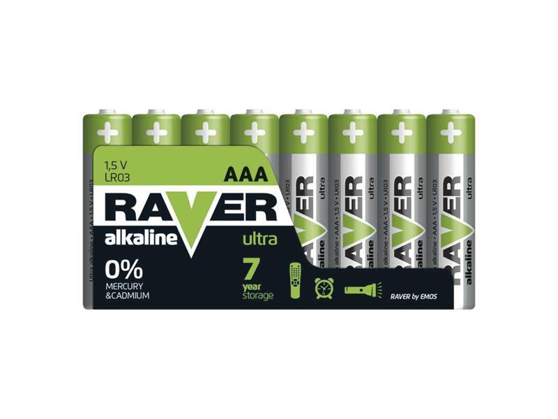 Baterie AAA(R03) alkalická RAVER