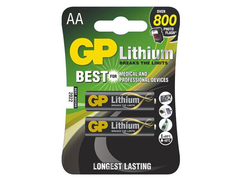 Baterie GP Lithium AA balení 2ks blistr