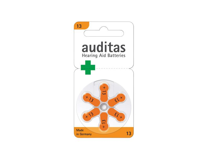Baterie AUDITAS VARTA Audiopro 13 do naslouchadel 6ks