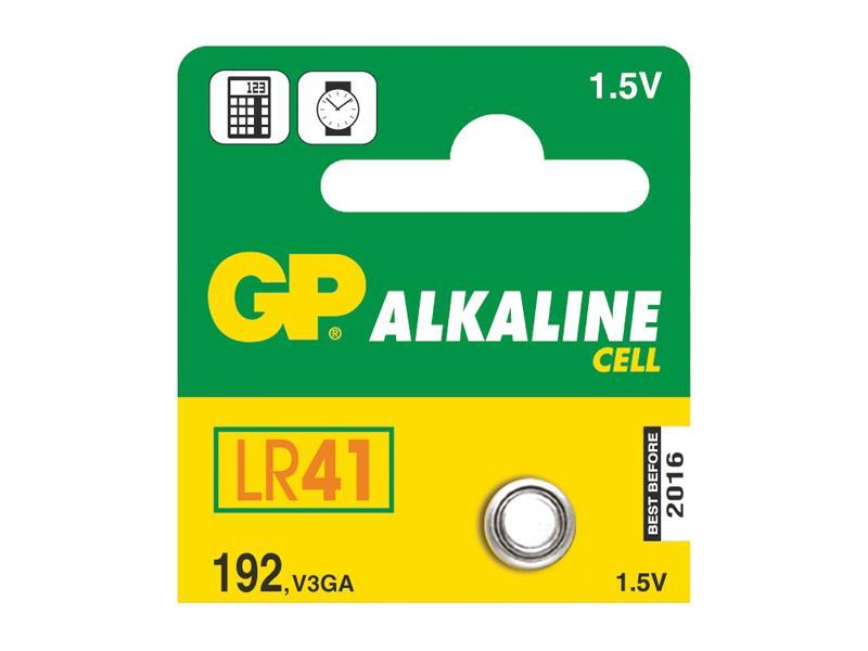 Baterie LR41 (192) GP alkalická balení 5ks blistr