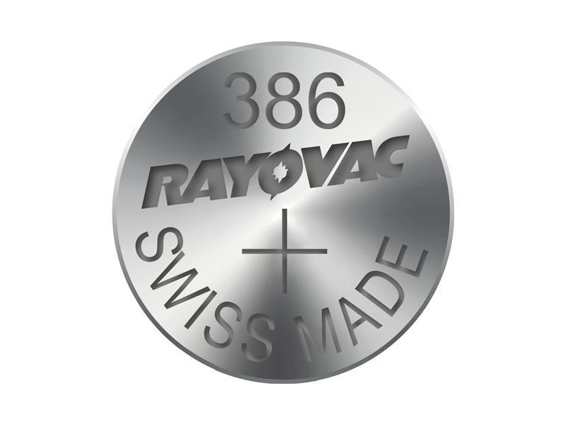Knoflíková baterie do hodinek RAYOVAC 386