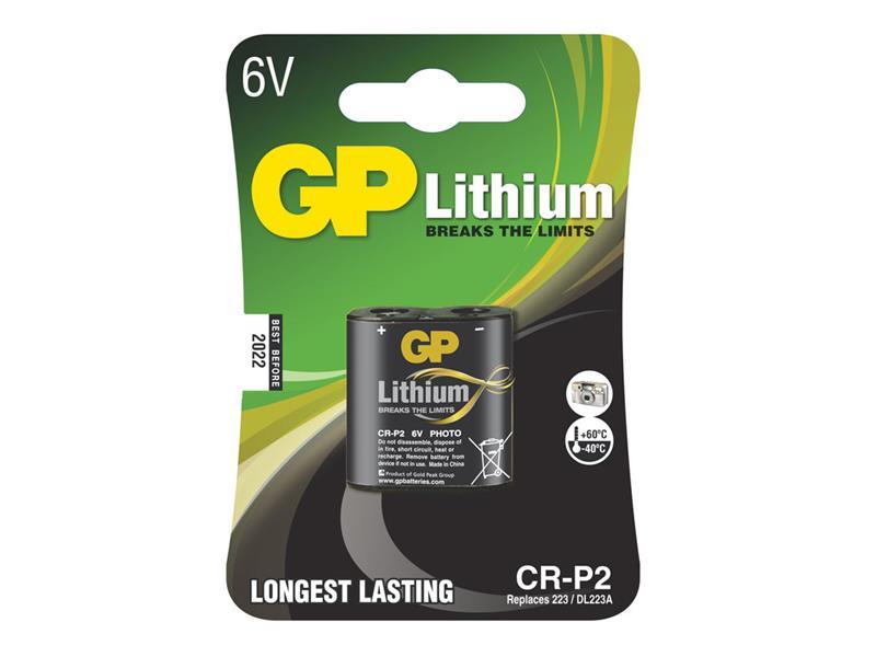 Baterie lithiová CR-P2 GP (foto) balení 1ks v blistru