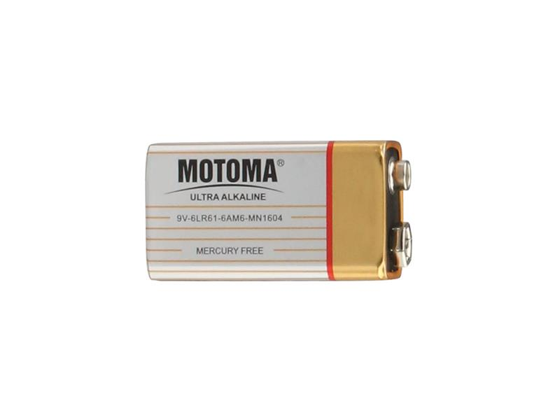 Baterie 9V (6LR61) alkalická MOTOMA Ultra Alkaline