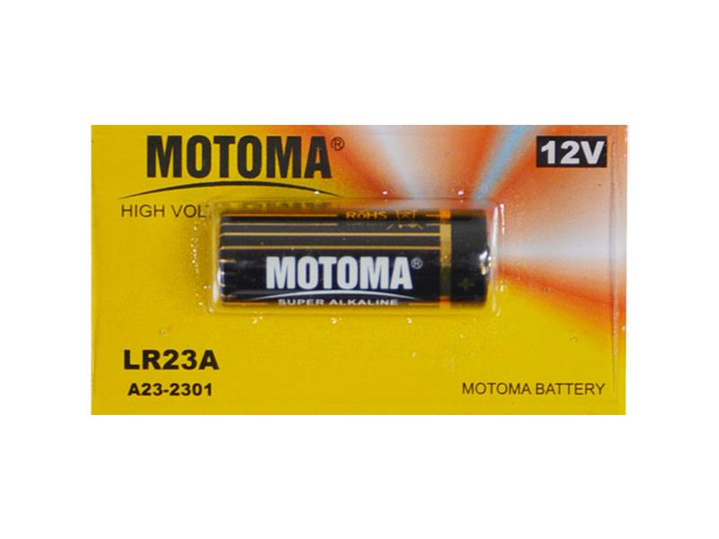 Baterie LR23A alkalická MOTOMA 12V 5ks blistr