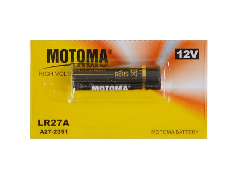 Baterie LR27A alkalická MOTOMA 12V 10ks blistr