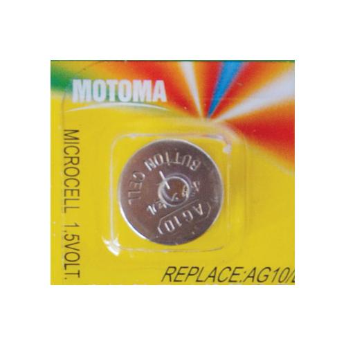 Baterie AG10 (LR54) MOTOMA alkalická 1,5 V 10 ks blistr