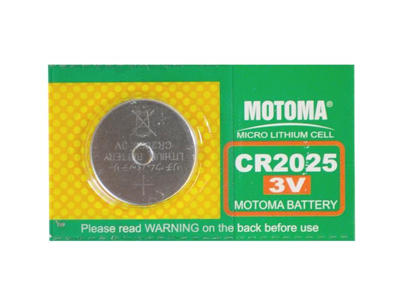 Baterie CR2025 MOTOMA lithiová 165mA 3V balení 5ks blistr