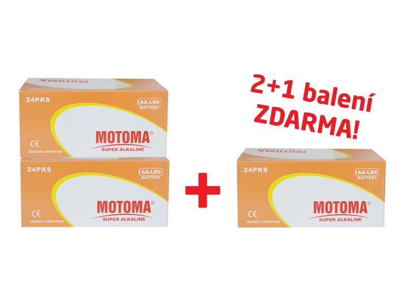 Balíček 2+1 (288 ks) Baterie alkalická AA (LR6) MOTOMA Ultra Alkaline