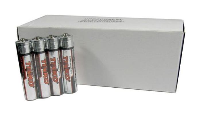 Baterie AAA(R03)  Zn-Cl  TINKO, balení 60ks