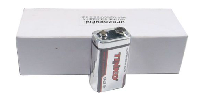 Baterie 6F22 (9V)  Zn-Cl  TINKO, balení 10ks