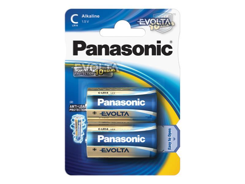 Baterie C (R14) alkalická PANASONIC Evolta LR14 2BP